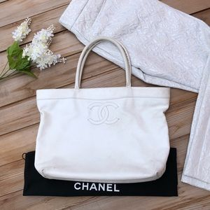 🥂 Vintage Chanel Caviar Executive Tote Pre-Loved